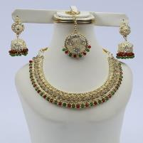 Golden Jewellery Set with Matha Patti (PS-118) Price in Pakistan