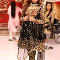 Heavy Embroidered Black Chiffon Wedding Dress - (CHI-328) Price in Pakistan
