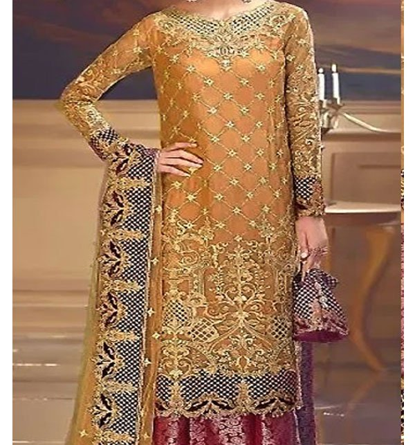 Heavy Embroidered Chiffon Bridal Dress Chiffon Dupatta (CHI-288) (Unstitched) Price in Pakistan
