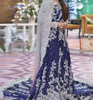 Heavy Embroidered Chiffon Bridal Dress Unstitched (CHI-80) Price in Pakistan
