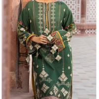 Heavy Embroidered Lawn Suit with Chiffon Dupatta (DRL-440) (Unstitched) Price in Pakistan