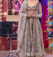 Heavy Embroidered Net Bridal Dress with Jamawar Trouser (CHI-242) (Unstitched) Price in Pakistan