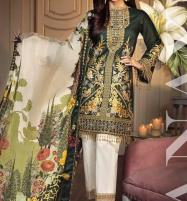Heavy Neck Embroidered Lawn Suits 2020 with Chiffon Dupatta UnStitched (DRL-572) Price in Pakistan