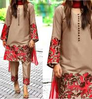 2-Pcs Embroidered Lawn Dress UnStitched (DRL-632) Price in Pakistan