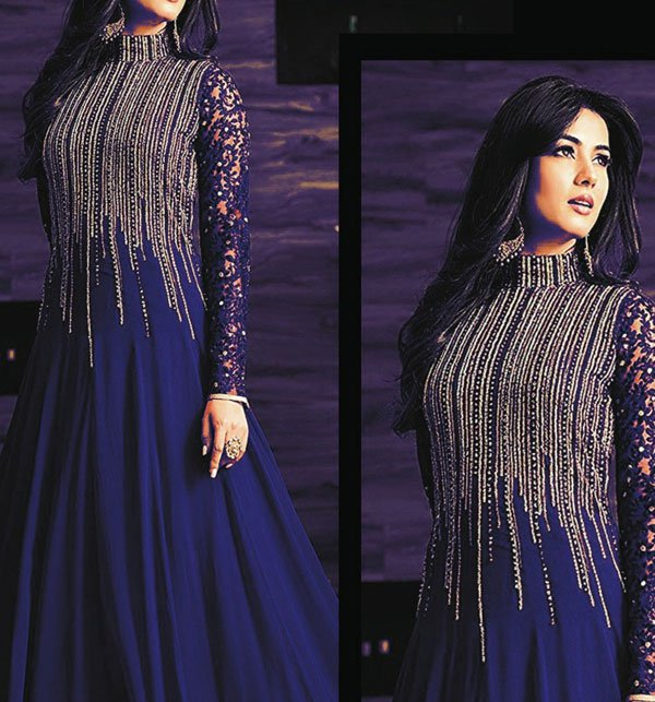 Designer Chiffon Embroidered Dress (CHI-252) (Unstitched) Price in Pakistan