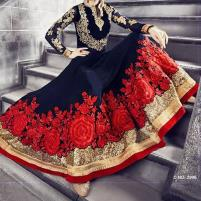 Indian Embroidered Chiffon Frock (CHI-32) Price in Pakistan