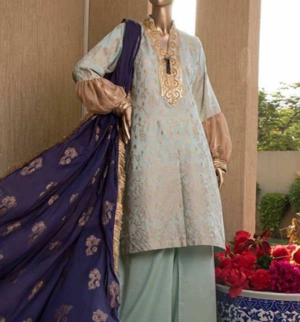 Jacquard Broshia Lawn Suit With Jacquard Dupatta (Unstitched) (JL-05) Price in Pakistan