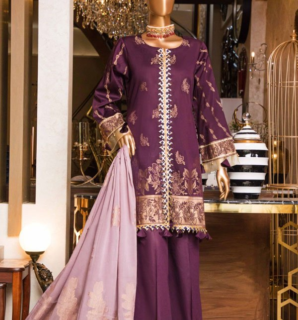 Jacquard Lawn 2019 Suit With Jacquard Dupatta (Unstitched) (JL-08) Price in Pakistan