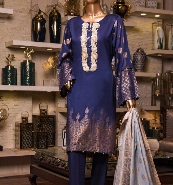 Jacquard Lawn Suit With Jacquard Dupatta (Unstitched) (JL-07) Price in Pakistan