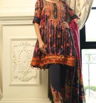 Khaddar Embroidered Suit wool shawl Unstitched - (KD-58) Price in Pakistan