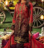 Khaddar Embroidered Suit with Wool Shawl Dupatta (Unstitched) (KD-55) Price in Pakistan