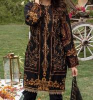 Khaddar Embroidered Suit with Wool Shawl Dupatta (Unstitched) (KD-56) Price in Pakistan