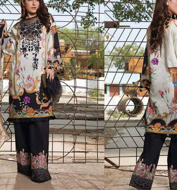 Khaddar Embroidery Suit 2019 2020 with Wool Shawl (Unstitched) (KD-44) Price in Pakistan