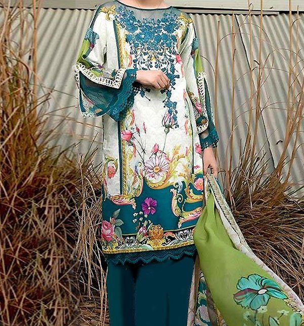 Khaddar Embroidery Suit 2019 2020 with Wool Shawl (Unstitched) (KD-45) Price in Pakistan