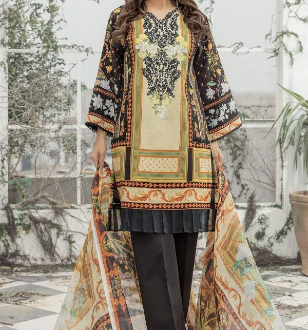 Khaddar Embroidery Suit With Wool Dupatta (KD-43) (UnStitched)	 Price in Pakistan
