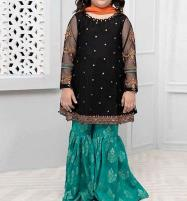 Kids 2-Pcs Embroidered Black Linen Suit Unstitched (LN-99) Price in Pakistan