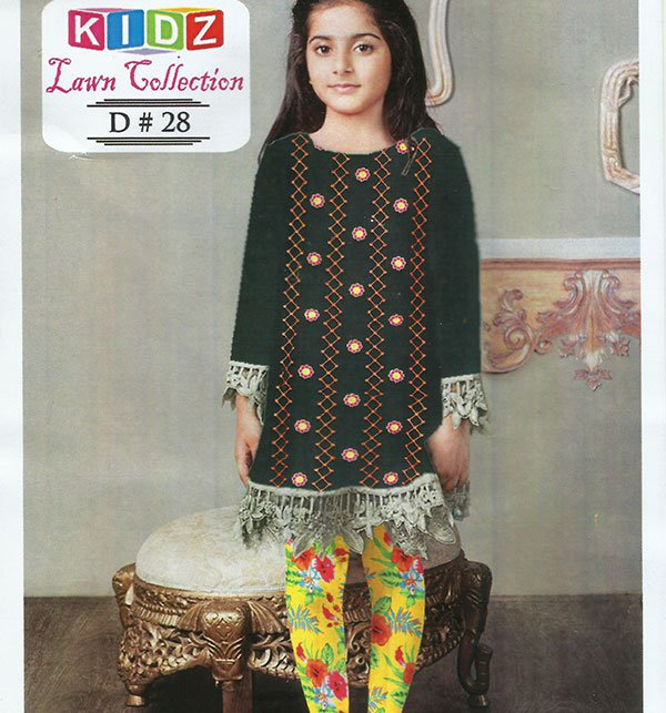Kids 2-Pcs Embroidered Lawn Dress 2019 (DK-28) (UnStitched) Price in Pakistan