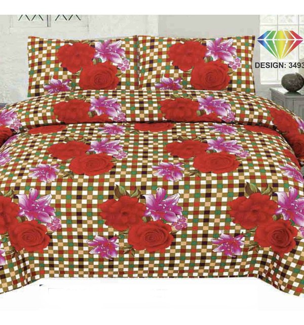 King Size Polyester Cotton Bed Sheet (PC-74) Price in Pakistan