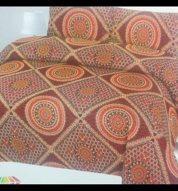 11 11 MEGA SALE King Size Polyester Cotton Bed Sheet with 2 Pillow Covers (PC-84) Price in Pakistan