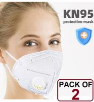PACK OF 2 MASK (KN-95) Face Mask Protective Price in Pakistan