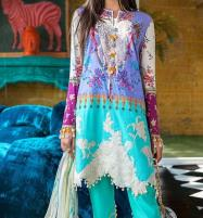 Lawn Embroidery suits 2020 for women Unstitched  (DRL-490) Price in Pakistan
