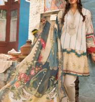 Embroidered Lawn Dress With Chiffon Dupatta (DRL-349) (Unstitched) Price in Pakistan