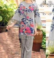 Lawn 2 pcs Suit Front Full Heavy Embroided (Unstitched) (DRL-477) Price in Pakistan