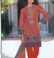 (SALE) Lawn Embroidered Dress With Chiffon Dupatta (DRL-368) (Unstitched) Price in Pakistan