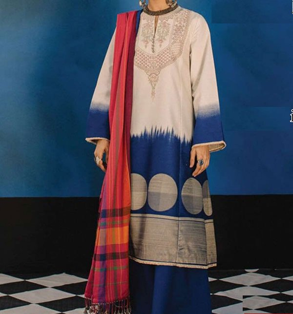 Lawn Embroidered Dress With Chiffon Dupatta (DRL-374) (Unstitched) Price in Pakistan