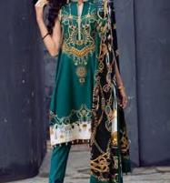 Lawn Embroidered Suit With Chiffon Dupatta (DRL-359) (Unstitched) Price in Pakistan