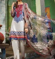 Lawn Embroidered Suit With Chiffon Dupatta (DRL-360) (Unstitched) Price in Pakistan