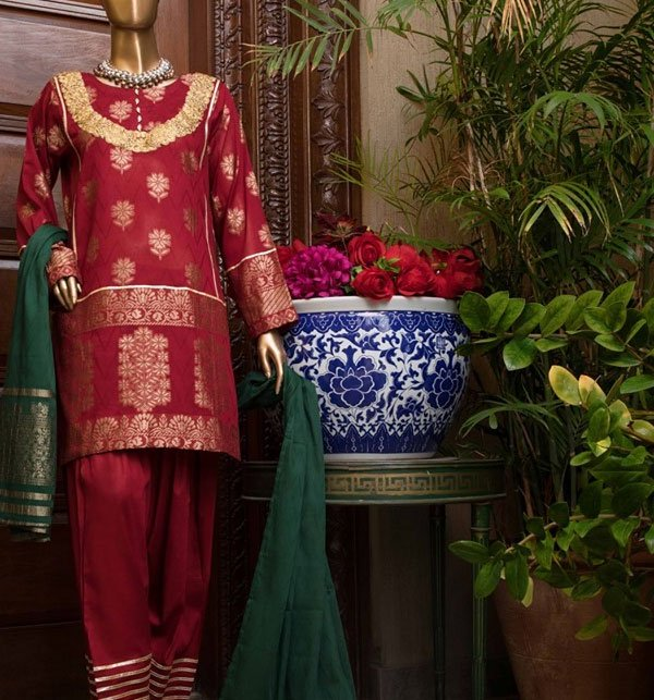 Banarsi Jacquard Broshia Lawn Suit With Jacquard Dupatta (Unstitched) (JL-03) Price in Pakistan