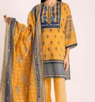 Linen Embroidered Dress with Wool Shawl Dupatta Unstitched (LN-100) Price in Pakistan