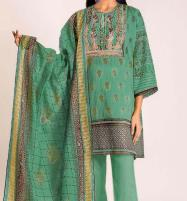 Linen Embroidered Dress with Wool Shawl Dupatta Unstitched (LN-101) Price in Pakistan