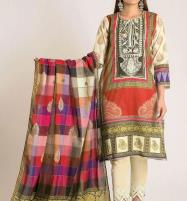 Linen Embroidered Suit With Wool Shawl (LN-52) Price in Pakistan