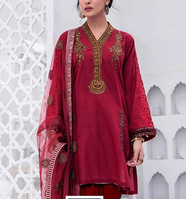 Linen Heavy Embroidered Suits With Wool Shawl Unstitched (LN-79) Price in Pakistan