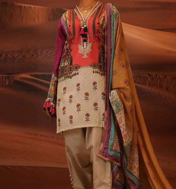 LINEN Embroidery Suit With Wool Shawl Duppata (Unstitched) (LN-68) Price in Pakistan