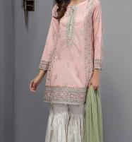 Linen Light Pink Suit With Wool Shawl Printed Trouser (Unstitched) (LN-108) Price in Pakistan