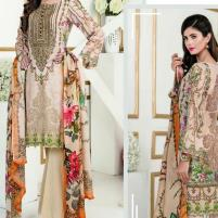 Linen Suit With Chiffon Dupatta (Unstitched) (LN-61) Price in Pakistan
