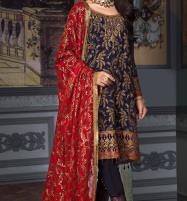 Luxury Embroidered Chiffon Unstitched 3 Piece Suit 2019 2020 - (CHI-312) Price in Pakistan