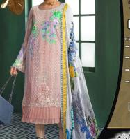 Luxury Embroidered Chikankari Lawn Suit 2020 with Silk Dupatta  (Unstitched ) (DRL-523) Price in Pakistan