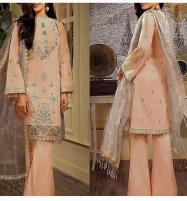 Luxury Embroidered Lawn Dress with Chiffon Dupatta UnStitched (DRL-620) Price in Pakistan