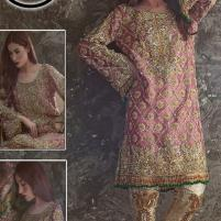 Masoori Net Bridal Embroidery Suit With Net Embroidery Duppata - (CHI-323) Price in Pakistan