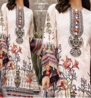 Lawn Embroidered  80/80 Lawn With Chiffon Printed Duppata  UnStitched (DRL-641) Price in Pakistan