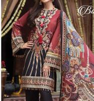 Neck Embroidered Lawn Suit With Chiffon Dupatta (DRL-377) (Unstitched) Price in Pakistan