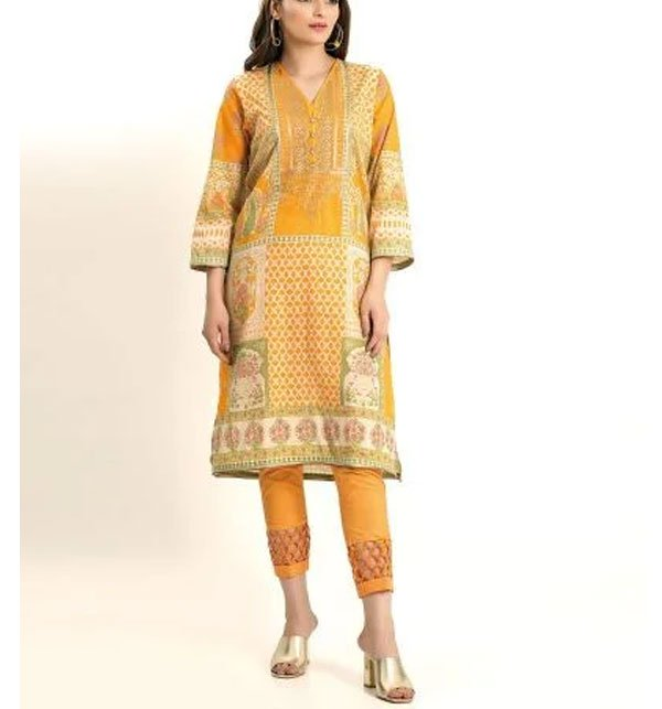 Embroidered Lawn Suit With Chiffon Dupatta (DRL-392) (Unstitched) Price in Pakistan
