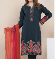 Neck Embroidered Lawn Suit With Chiffon Duppata (UnStitched) (DRL-501) Price in Pakistan