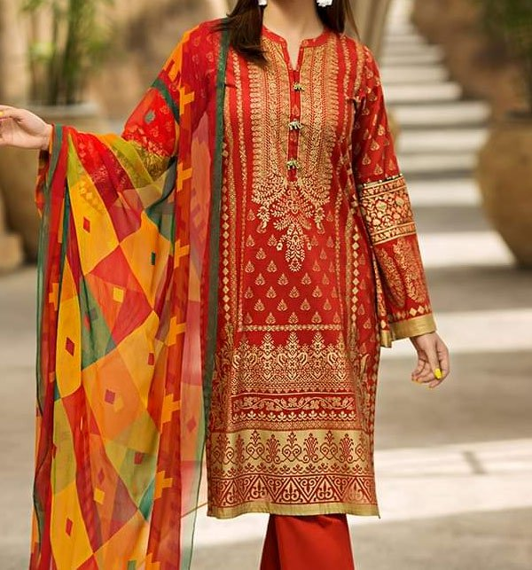 Khaddar Embroidered Suit 2019 with Wool Dupatta (LN-91) (Unstitched) Price in Pakistan