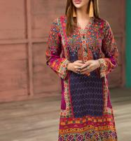 Linen  Embroidered Suit with Wool Dupatta (LN-94) (Unstitched) Price in Pakistan