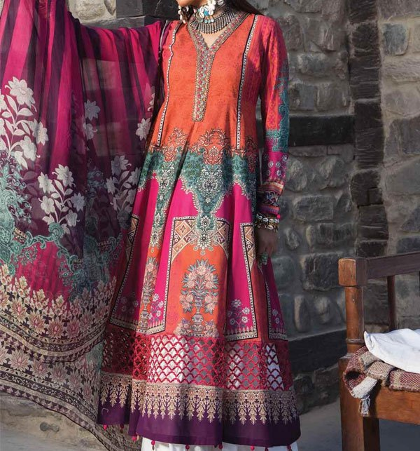 Linen Embroidered Suit With Wool Shawl (Unstitched) (LN-57) Price in Pakistan